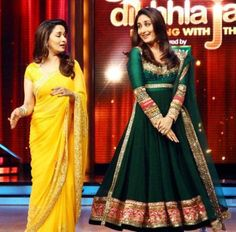 Manish Malhotra's anarkali dress in dark green color has been worn by Karenna on famous dancing show with Mahdori. Pakistani Outfits, Indian Outfits, Manish Malhotra Anarkali, Lehenga, Anarkali Dress, Indian Anarkali, Long Anarkali, Anarkali Suits, Indian Sarees