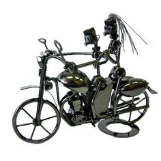 A pair of lovers on a motorcycle trip techno by MetalAlive on Etsy
