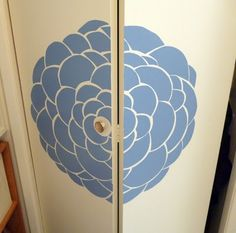 Feather's Flights {a creative, sewing blog}: Blue Rose Closet Door