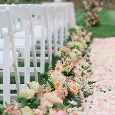 "Stunning ""Enchanted Garden"" themed ceremony aisle | Allan Zepeda Photography | Marcy Blum Associates The Biltmore Estate | Holly Heider Chapple Flowers Ltd. | www.theknot.com"