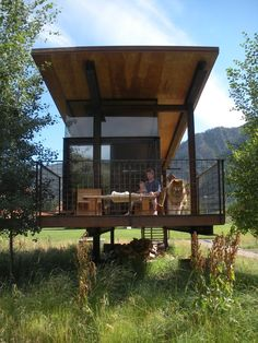 Tyni House, Tiny House Cabin, Tiny House Living, Cabin Design, Tiny House Design, Prefab Homes, Modular Homes, Casas Containers, Modern Tiny House