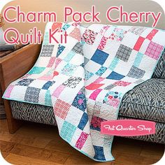Charm Pack Cherry Quilt Kit<br/>Featuring Paradiso by Kate Spain