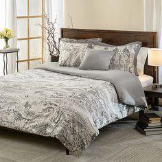 Comosetti Griffen Grey Paisley Reversible Cotton 5-piece Comforter Set | Overstock.com Shopping - The Best Deals on Comforter Sets