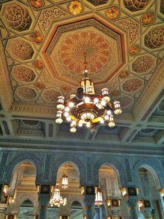 Beautiful  lighting inside  masjid al Haram # Mecca