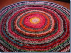 This free crochet pattern is cute and customizable since you can decide how big or small to make it. Make one big Circular Crochet Rag Rug and put it in the middle of a room or make several and create a rug path down the hall.