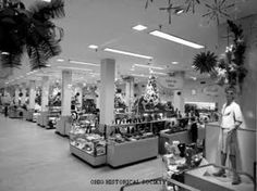 Lazarus -- The First Floor of the Downtown Columbus store, I miss that store, even more at Christmas time