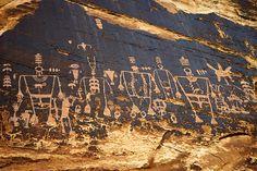 Anasazi Petroglyph/Rock Art: Utah.  Ancient Pueblo peoples or Ancestral Pueblo peoles were an ancient Native American culture centered on the present-day Four Corners.