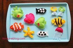 {DIY} Felt Magnets + Aquarium Magnet Board