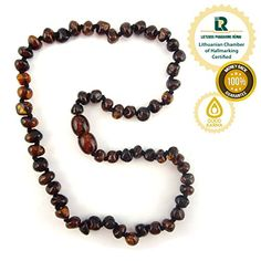 Baltic Amber Teething Necklace – Genuine Amber Necklaces for Baby – Natural Teether Relief for Boys and Girls – Lemon, Honey, Cognac and Multicoloured – Hand Knotted Beads with Screw Clasp -100% Satisfaction Guaranteed! Delivered and Fulfilled through Amazon Warehouses. (Black Cherry) | Your #1 Source for Toys and Games