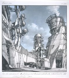 A Daily Dose of Architecture Books Wood Architecture, Chinese Architecture, Architecture Drawings, Futuristic Architecture, Classical Architecture, Lebbeus Woods, Amazing Drawings, Amazing Art, Art Nouveau