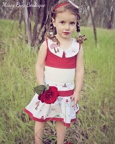 Little Red Top & Twirl Set