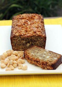 Coconut Macadamia Banana Bread Recipe