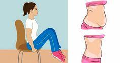 5 stoličkových cvičení, ktoré odstránia váš brušný tuk ľahko a rýchlo aj keď sedíte!!