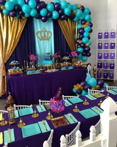 ✨💜This Princess Jasmine themed birthday was so much fun to create and the birthday girl loved every detail we incorporated✨💜 🎉Set-up &… Aladdin Birthday Party, Aladdin Party, 6th Birthday Parties, Princess Birthday, Birthday Party Decorations, Girl Birthday, Jasmin Party, Princess Jasmine Party, Arabian Party