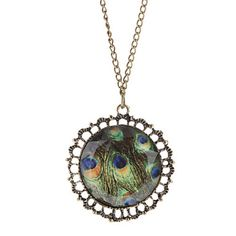 The Peacock Feather Necklace