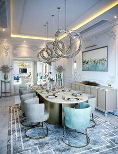 Modern formal Dining Table 2020 Dining Room Trends What to Expect Dining Room Wall Decor, Dining Table In Kitchen, Dining Room Design, Dining Chairs, Kitchen Design, Formal Dining Tables, Elegant Dining Room, Room Design Images, Contemporary Interior Design