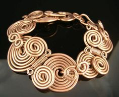 copper coil bracelet by Lisa Barth, from www.lbjewelrydesigns.com