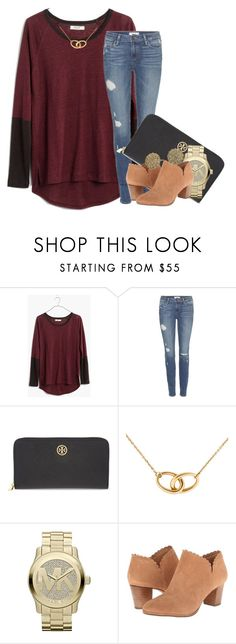 """made tons of drafts last night, posting them now"" by econgdon ❤ liked on Polyvore featuring Madewell, Paige Denim, Tory Burch, Tiffany & Co., MICHAEL Michael Kors, Jack Rogers and Kate Spade"