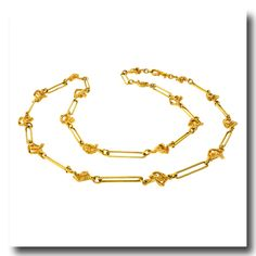 Inv. #16695  Gilbert Albert Necklace 18k c1970s Geneve, Switzerland. Lawrence Jeffrey Estate Jewelers