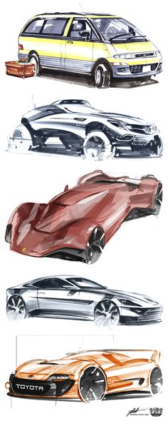 The project presents sketches of cars Cool Sketches, Drawing Sketches, Drawings, Sketching, Car Design Sketch, Sketch Markers, Hand Sketch, Transportation Design, Automotive Design