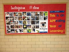 Instagram inspired bulletin board using Picasa and a color printer.  Font=Billabong