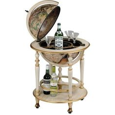 "Zoffoli ""Avorio"" Elegant Floor Standing Bar Globe"