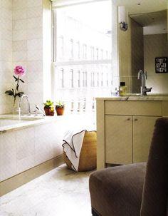 Suzie: Big city chic bathroom  modern, chic city bathroom design with white carrara carrera ...