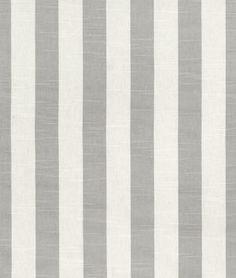 Premier Prints Stripe Coastal Gray Slub Fabric - $16.98   onlinefabricstore.net