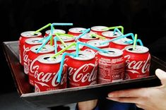 Coca-colas for a Stranger Things Halloween party! #makeupideasforteens