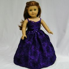 american girl doll prom dresses | Royal Purple Formal for American Girl Dolls by juliascreations, $45.00