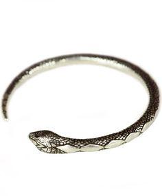 Serpent Bangle Antique Silver
