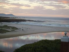 At the Beach - sunset ideal for honeymoon couples - no whales tonight! Beach Villa, Sky And Clouds, Beach House Decor, Ocean Beach, Places To See, South Africa, Beautiful Homes, Travel Destinations, Adventure