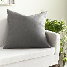 European Flax Linen Pillow Cover – Slate Square