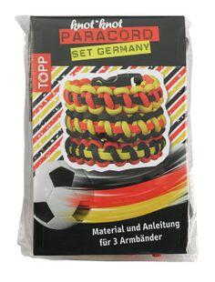 knot*knot Paracord-Set Germany - Anleitung und Material für 3 Armbänder