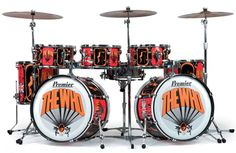 Replica of Keith Moon's 'Picture's of Lily' drum kit