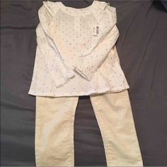 New Oshkosh outfits New Oshkosh outfits size 2t shirt and 3t corduroy pants with sparkles Other