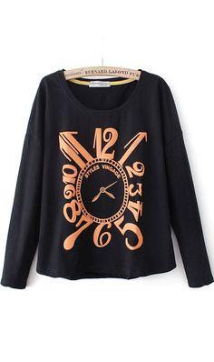 Loose version  loop leisure fashion fleece black