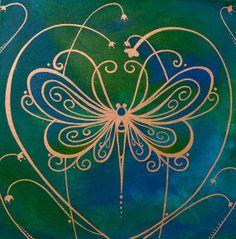 Transformative Love 12x12 Original by LisaSteinkeArt on Etsy, $150.00