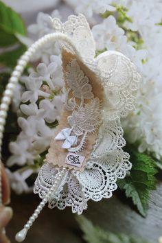 Lace Wedding Headband.