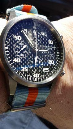 Mauriac Chronograph Modern on Gulf Team NATO