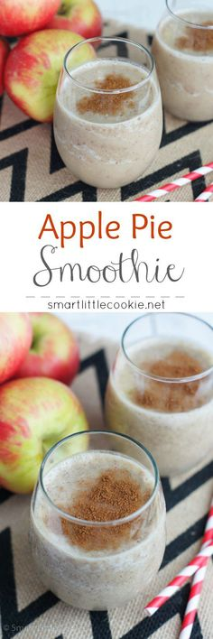 The best Apple Pie Smoothie! Tastes just like apple pie in a glass. It's also vegan!  #Bestlifeproject #ad | smartlittlecookie.net