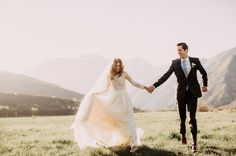 When today's bride, Gabby, described her + Patrick's Utah backyard wedding as having a French-Bohemian aesthetic, complete with a s'mores bar, a handmade (by the groom!) wedding arch and lacey, white bridesmaid dresses, well, we were utterly on board with all the detailsand just couldn't hardly wait to share! Then, weheard that the amazingIndia Earlwas...