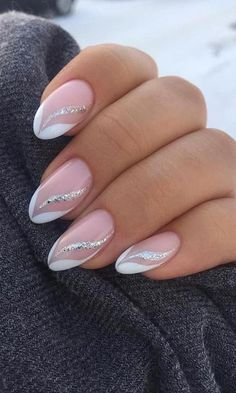 Frensh Nails, French Manicure Nails, Chic Nails, Stylish Nails, Pink Nails, Simple Acrylic Nails, Almond Acrylic Nails, Cute Nail Art Designs, Acrylic Nail Designs