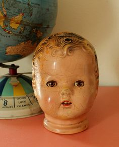 1930's Composition Doll Head Vintage Doll Head by TheOrangeHorse, $18.00