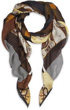 Fendi Printed Silk Scarf Fendi Scarf, Beige, Scarf Belt, Silk Scarves,  Womens a856506bea3