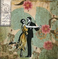DANCE NEW YORK FLORAL (Sm. Block Mounted Print). $30.00, via Etsy.