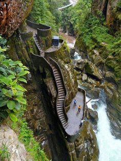 Amazing mountain stairs