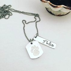 Custom Personalized Pet Cremation Necklace - Personalized Urn Pet - Hand Stamped Cremation Jewelry - Urn Memorial Jewelry - Remembrance