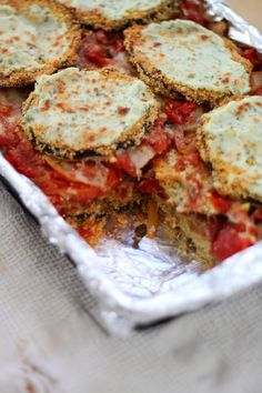 Jenessa's Dinners: Cornmeal Crusted Eggplant and Roasted Tomato Lasagne