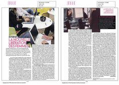 Magazine ELLE (double page) Internet : la nouvelle libération des femmes par Michèle Fitoussi (Natacha Quester-Séméon /girlpower3) Magazine, Polaroid Film, Internet, Baby Born, Women, Magazines, Warehouse, Newspaper